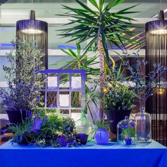 Detalle floral de la decoración de una boda en Deloya Restaurante en Oviedo