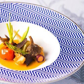 Ensalada de verduras y setas