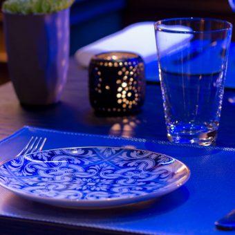 Detalle de la vajilla de Mestura Restaurante