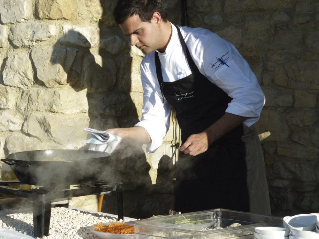 Cocina en directo - Deloya Gastronomía bodas en Asturias